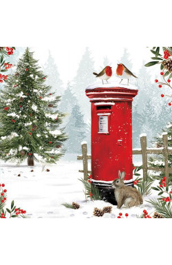 Snowy Postbox Friends
