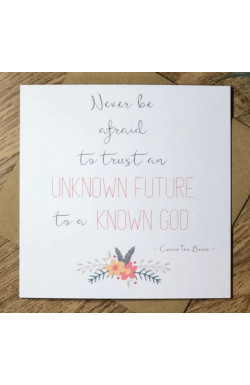 Unknown Future - Greetings Card