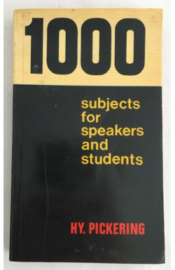 1000 Subjects for Speakers and Students