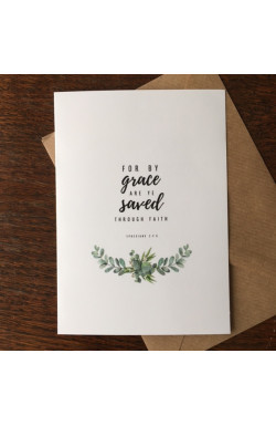 For by Grace & Rejoice in Hope - Pack of 2 Greetings Cards