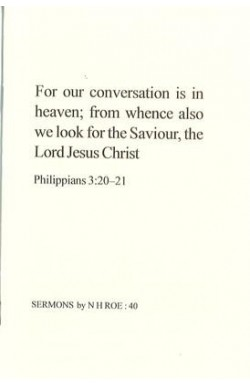 For our Conversation is in Heaven