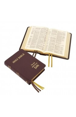 KJV Compact Westminster Reference Bible, Brown Meriva Leather
