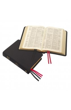 KJV Compact Westminster Reference Bible, Black Meriva Leather
