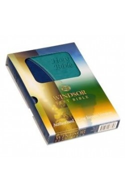 KJV Windsor Text Bible, Blue Two Tone
