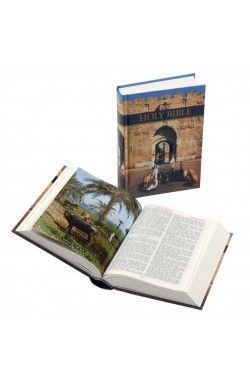 KJV Royal Ruby pictorial printed hardback