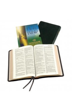 KJV Windsor Text Bible, Black Calfskin