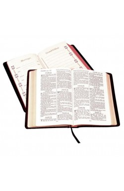 KJV Family Bible, Black Calfskin Leather