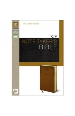 KJV Notetaker's Bible, Caramel Duo-Tone