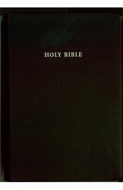 KJV Emerald Text Bible, Black French Morocco Leather