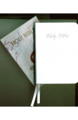 KJV Pocket Reference Bible, White Leather