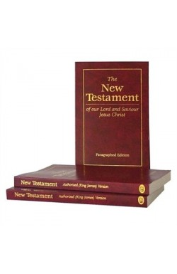 KJV Paragraphed New Testament, Red Flexible Vinyl