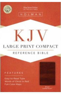 KJV, Large Print, Compact, Brown Leathertouch