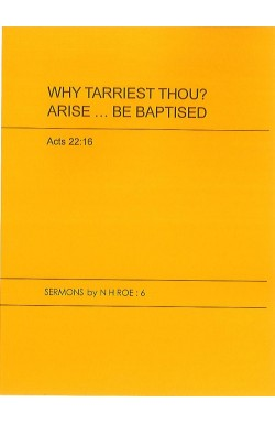 Why Tarriest Thou? Arise...Be Baptised