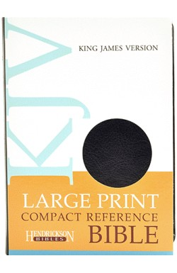 KJV Large Print Compact Reference Bible, Black Bonded Leather