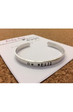 Scripture Cuff Bracelet - Be Still