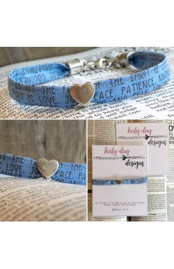 Scripture Fabric Bracelet - The Fruit of the Spirit