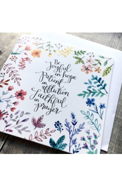 Be Joyful - Scripture Greetings Card