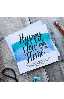Happy New Home - Scripture Greetings Card