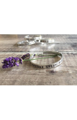 Scripture Cuff Bracelet - My anchor holds