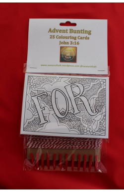 Advent Bunting Colouring Cards Kit