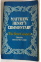 Matthew Henry's Commentary Edited.