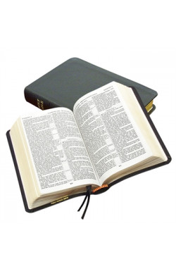 KJV Classic Reference Bible, Genuine Calfskin Leather, black