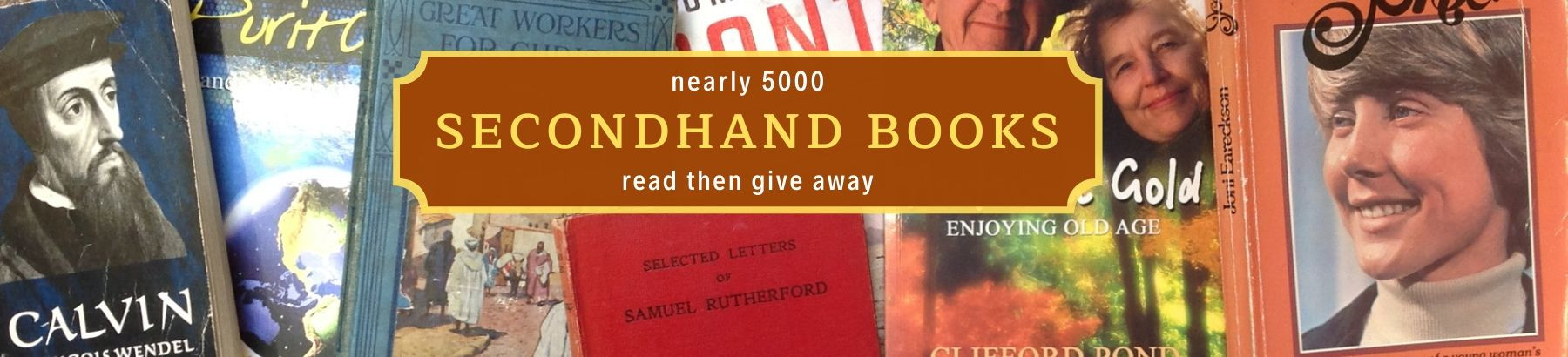 Secondhand books are perfect for giving away!