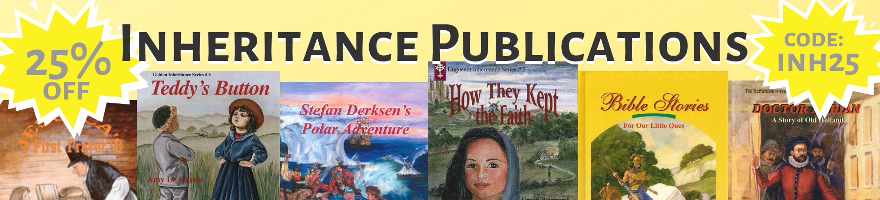 25% off all Inheritance Publications