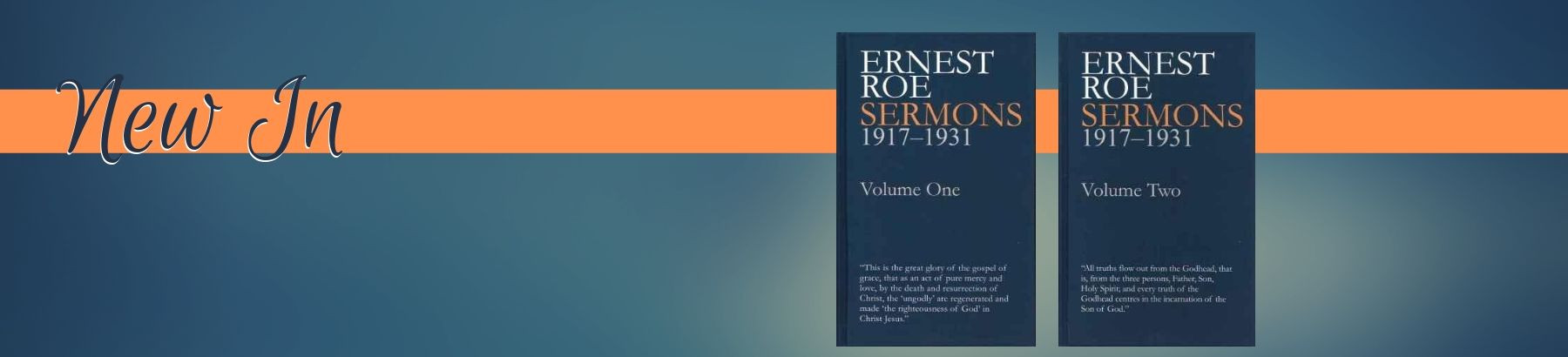 Just arrived! Sermons by Ernest Roe