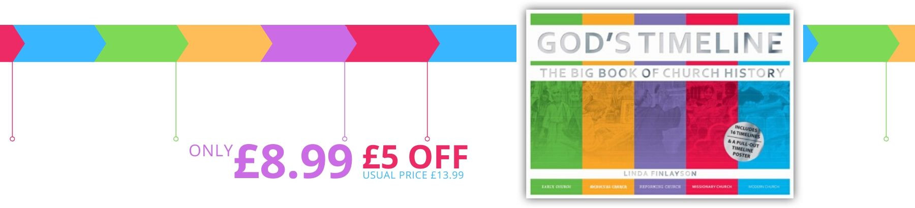 £5 off God's Timeline - while stocks last!